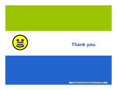 how to make a good thank you slide