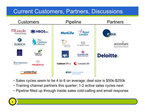 Customer, Pipeline and Partner Slide